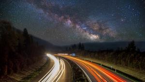 Blick in unsere Galaxie (Milchstraße)