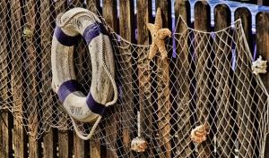 Grobmaschiges Fischernetz